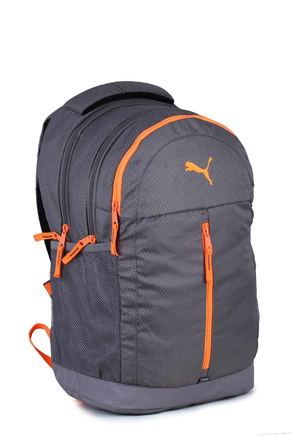 Puma Quiet Shade and Shocking Orange Casual Backpack (7554703)  Amazon.in   Bags 762672bde87bb