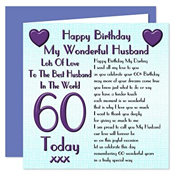 Husband 60th Happy Birthday Card