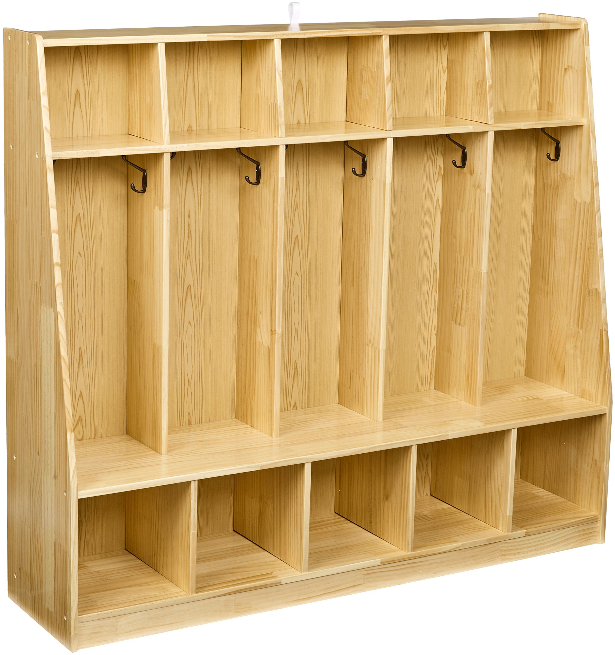 AmazonBasics Coat Locker, 5-Section with Bench