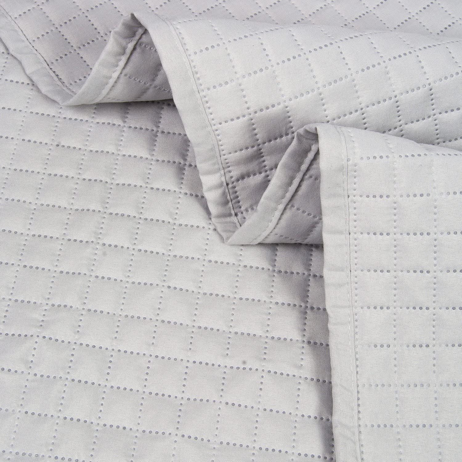 Twin HollyHOME Luxury Checkered Super Soft Solid Single Pinsonic Quilted Bed Quilt Bedspread Bed Cover Sage