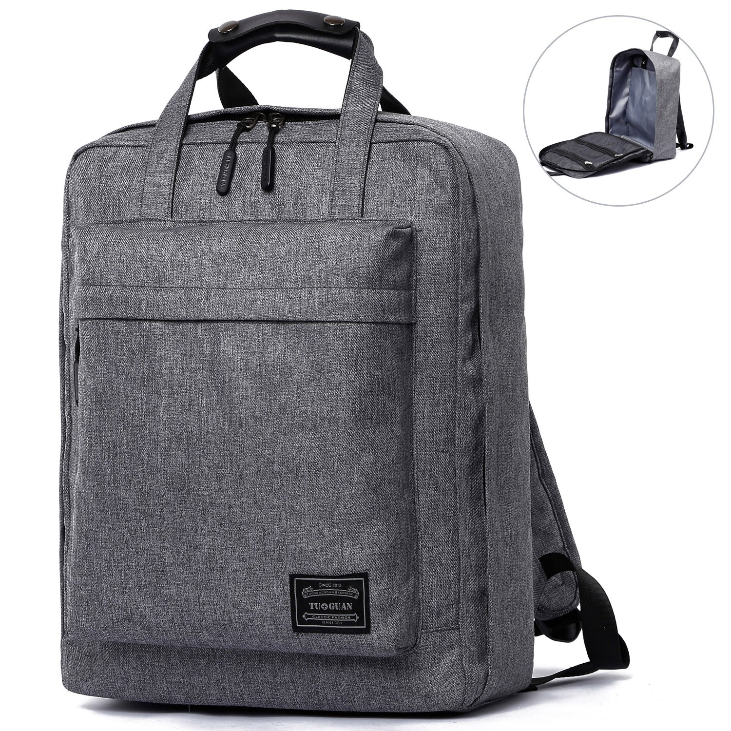 bcff21a95251 Amazon.com  Travel Canvas Backpack Causal Daypack Laptop Backpack Basics  Children School Backpack fit 15.6  Tablet PC Cabin Bag for Men and Women  (Grey)  ...