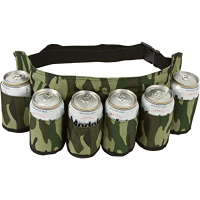 EZ Drinker Beer & Soda Can Holster Belt, Holds 6 Beverages