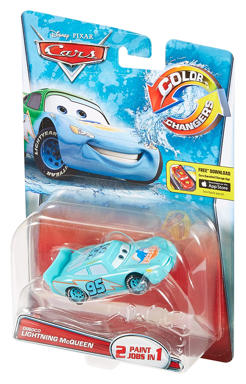 Dinoco Lightning McQueen Color Changers Disney//Pixar Cars Vehicle Mattel T2953 Green to Blue