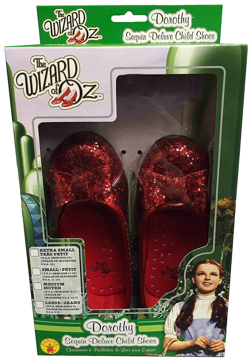 Amazon.com: Wizard of Dorothy Deluxe Ruby Red Costume Shoes: Toys ...