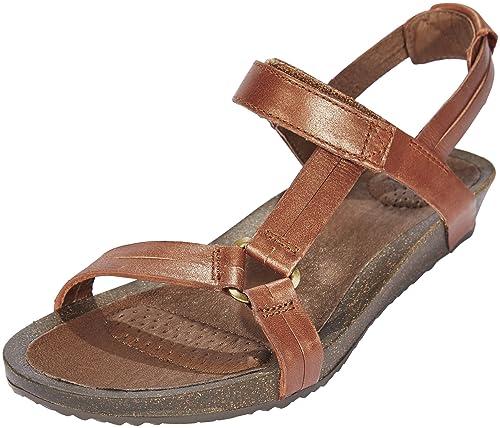 8122e690e3e7 Teva Ysidro Universal Metallic Sandals Women Brown Shoe Size US 6 ...