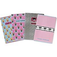Maxi Notebooks Chiara Ferragni i Pigna, format A4, 5 m 5 mm w kwadrat, różowy/lazurowy mieszanka przedmiotów, zestaw 5…