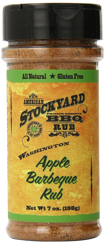 American Stockyard - Washington Apple Organic BBQ Rub - Small Batch Made in Kansas City, USA - 7oz - All Natural Spice Blend