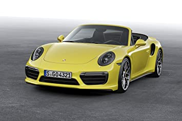 Porsche 911 Turbo S Cabriolet (991) (2016) Car Print on 10 Mil