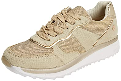 Xti Womens 47792 Low-Top Sneakers, Gold, 6 UK