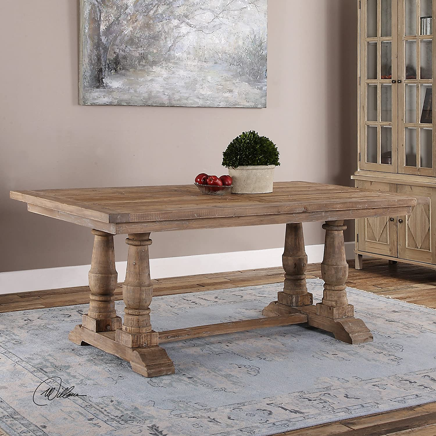Amazon The Uttermost Stratford Salvaged Wood Dining Table