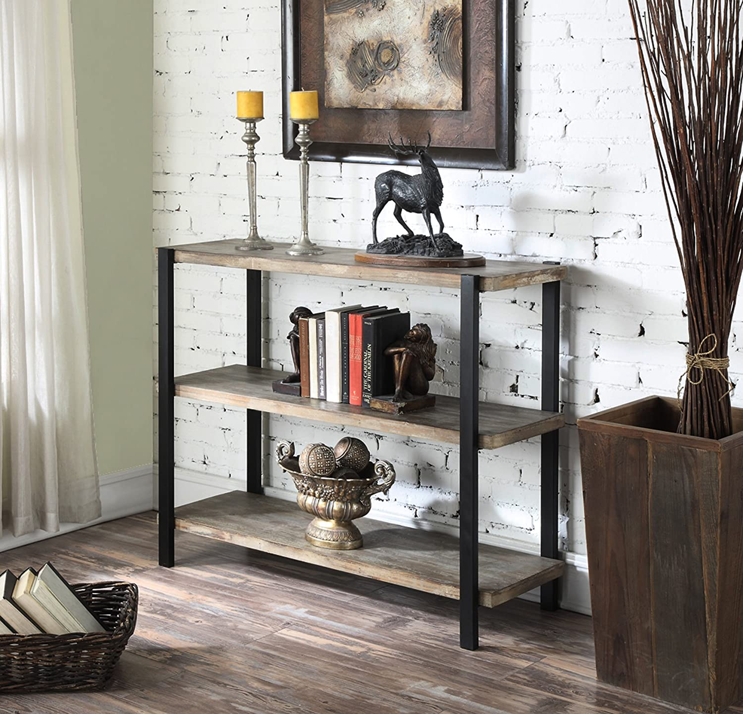 Amazon.com: Convenience Concepts Wyoming 3 Tier Console Bookcase, China Fir  Shelves: Kitchen U0026 Dining