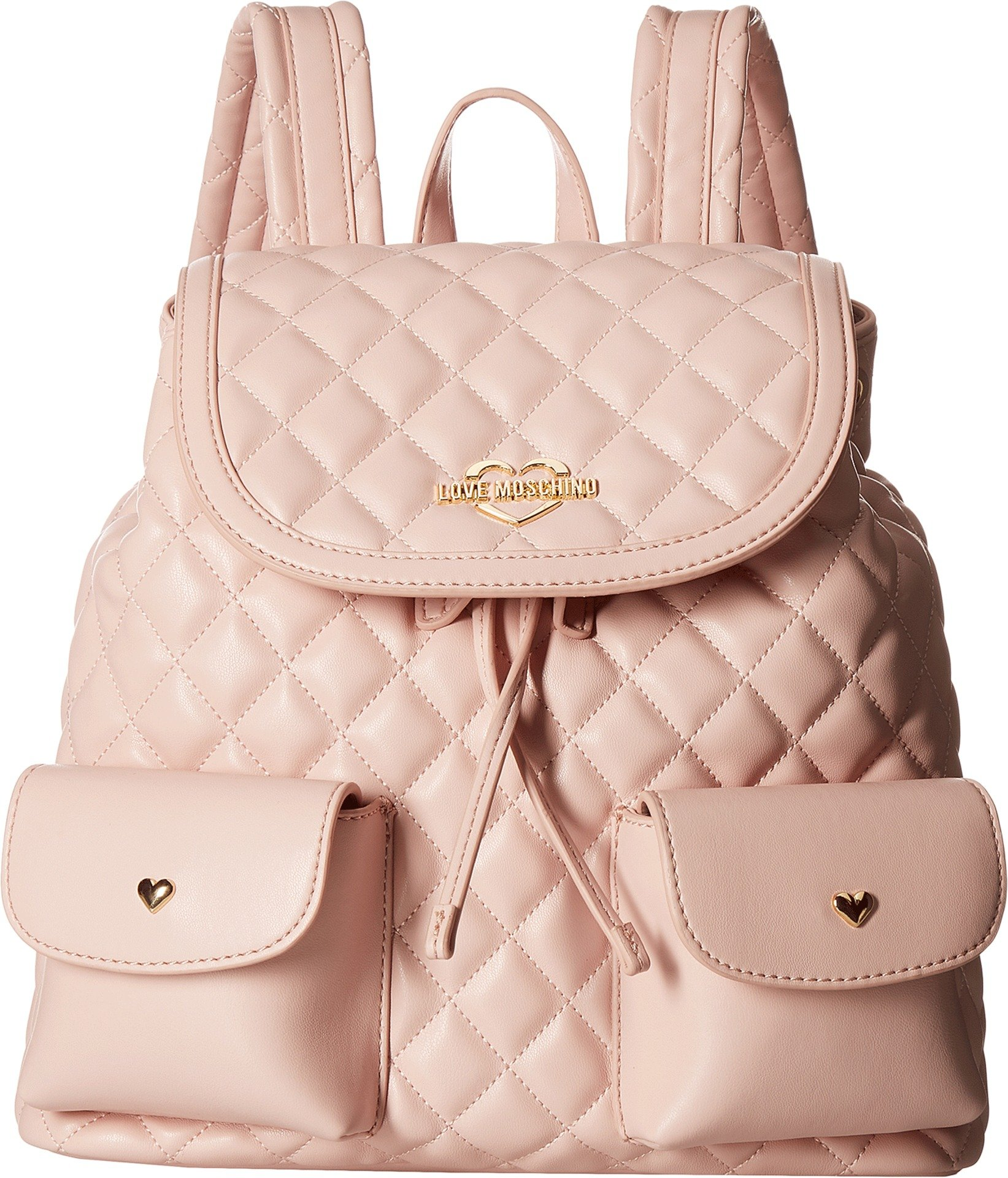LOVE Moschino Women's Quilted Backpack Pink One Size