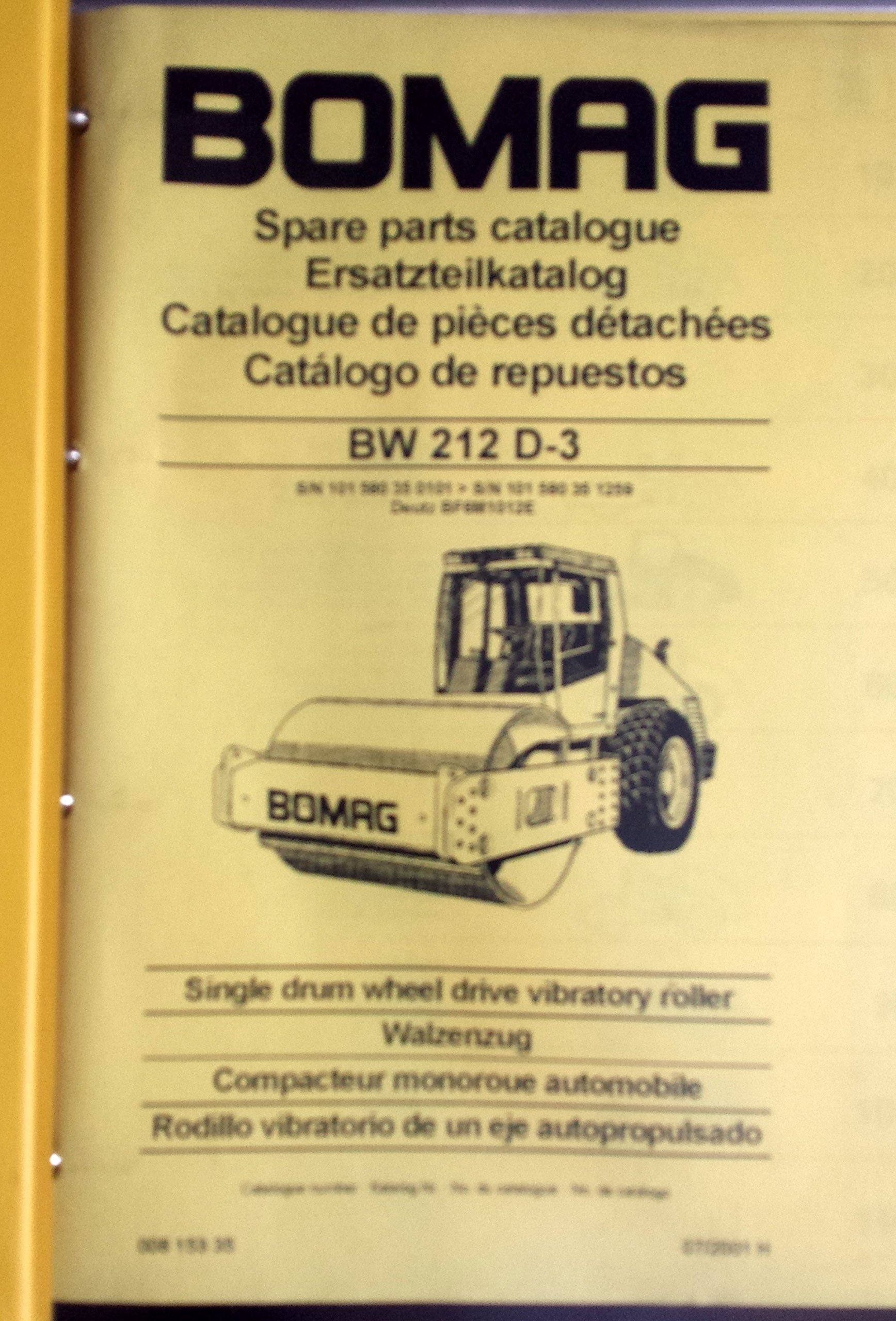 Bomag Spare Parts Catalogue BW 212 D-3: Bomag: 0730347164348: Amazon.com:  Books