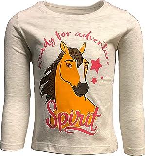 SPIRIT Mädchen Pferde Langarmshirt pink