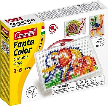 Quercetti 13/0952 - Estuche para crear mosaicos (270 clavos) , color/modelo surtido: Amazon.es: Juguetes y juegos