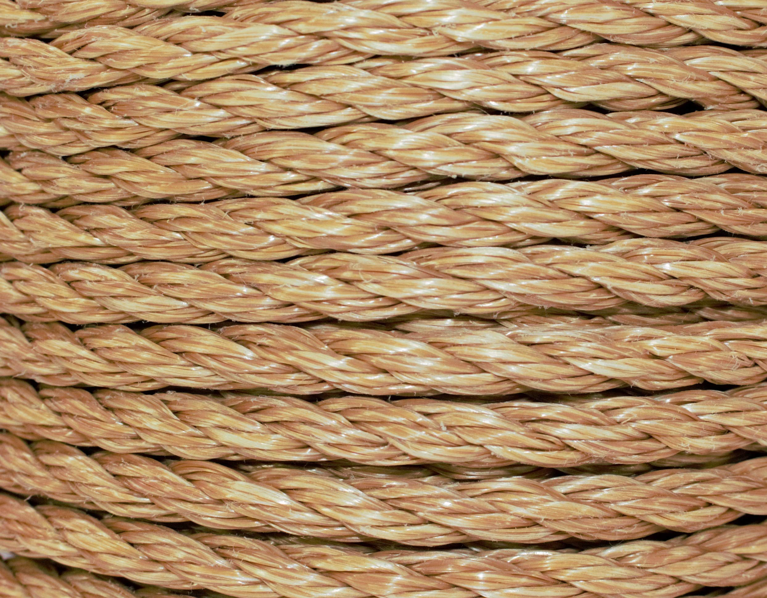 SGT KNOTS ProManila Rope (3/8 inch) UnManila Tan Twisted 3 Strand Polypropylene Cord - Moisture, UV, and Chemical Resistant - Marine, DIY Projects, Crafts, Commercial, Indoor/Outdoor (400 ft) by SGT KNOTS