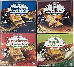 Trader Joes Cereal Bar Variety Pack (4 Flavors)