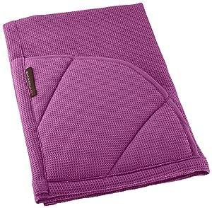 Rachael Ray Multifunctional 2-in-1 Moppine, Ultra Absorbent Kitchen Towel & Heat Resistant Pot Holder, Purple
