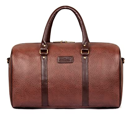 5e591f1fea The Clownfish Amory 27 LTR Travel Duffel Bag | Luggage | Cabin Luggage |  Weekender Bag (Caramel): Amazon.in: Bags, Wallets & Luggage