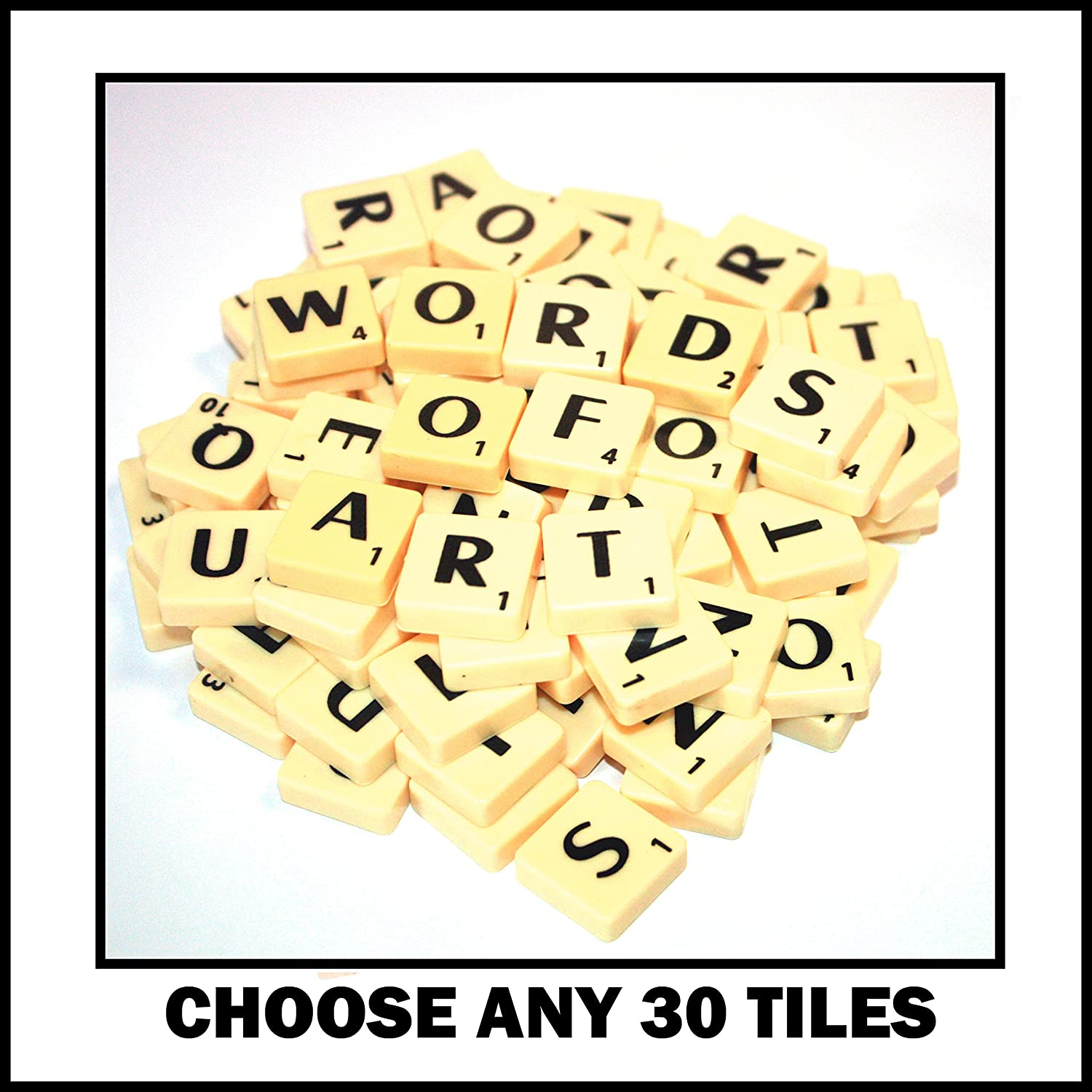30 Plastic Letter Word Game Tiles of Your Choice (pick 'n' mix) Pick your own Letters