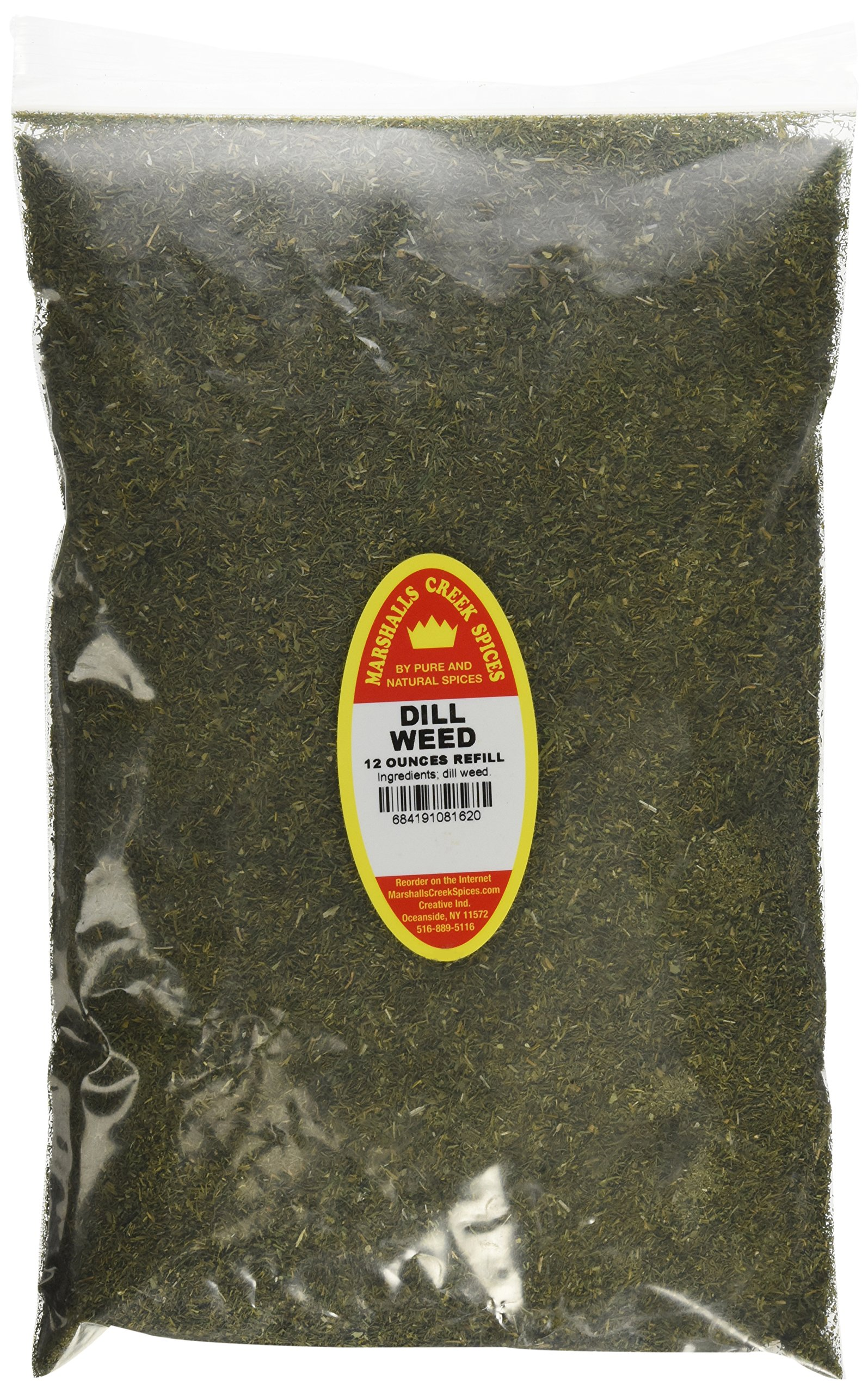 Marshalls Creek Spices Family Size Refill Dill Weed, 12 Ounces