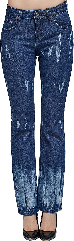 Camii Mia Jeans Regular Fit Mujer Boot Cut Moderno Acampanado a Lavado Tie Dye
