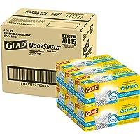 Glad Medium Quick-Tie Trash Bags - OdorShield 8 Gallon White Trash Bag, Febreze...
