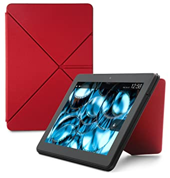 Black Leather Origami Case for Fire HDX 8.9 4th Generation