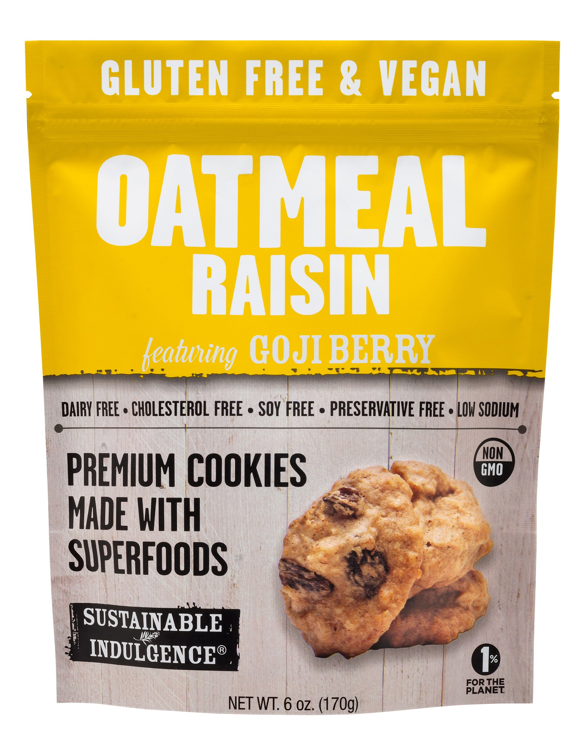 Sustainable Indulgence - Gluten Free, Vegan Cookies with Superfoods, Oatmeal Raisin (Pack of 3) by Sustainable Indulgence