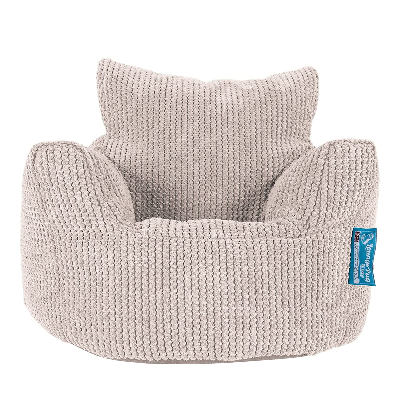 Lounge Pug®, Puff Sillón para niños, Pompón - Crema