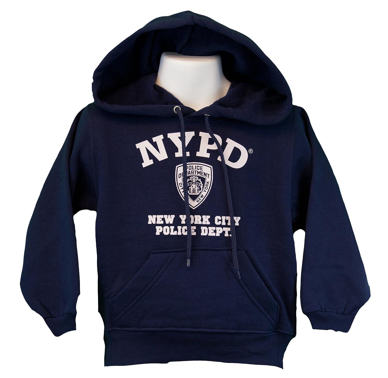 amazon com nypd kids hoodie white print sweatshirt navy clothing