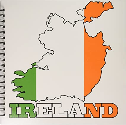Map Of Ireland Drawing.Amazon Com 3drose Db 63165 2 The Flag Of Republic Of Ireland In
