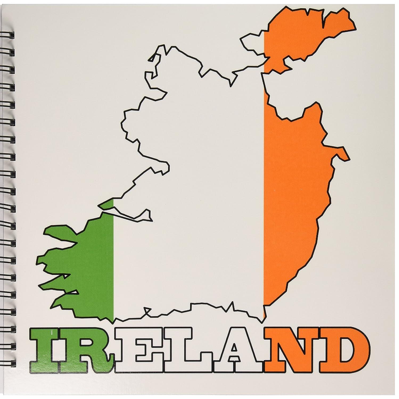 3dRose db_63165_2 アイルランドの国と名前のアウトライン地図、アイルランドの記憶の本、12 x 12インチ B00JU28DG2