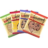 Kakookies Energy Snacks - Assortment (Box of 1 Dozen Cookies) - Vegan, Gluten Friendly, Superfood Snack Cookies