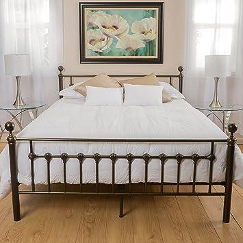 bradford cal king dark copper gold bed frame