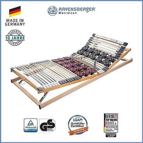 Ravensberger Matratzen® Duomed® Lattenrost   7-Zonen-Buche-Teller-Lattenrahmen   Teller und Leisten  verstellbar  MADE IN GER