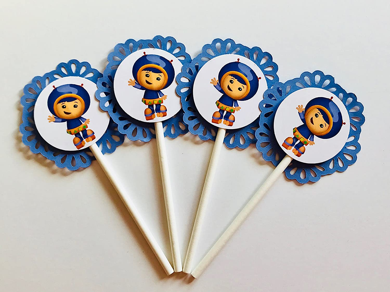 Wondrous 12 Team Umizoomi Cupcake Toppers Party Picks Nickelodeon Personalised Birthday Cards Epsylily Jamesorg