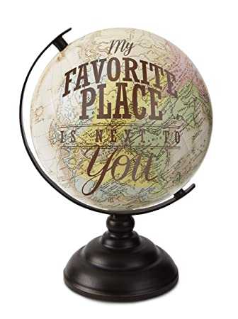 pavilion gift company 61002 my favorite place decorative globe 9 12 - Decorative Globe