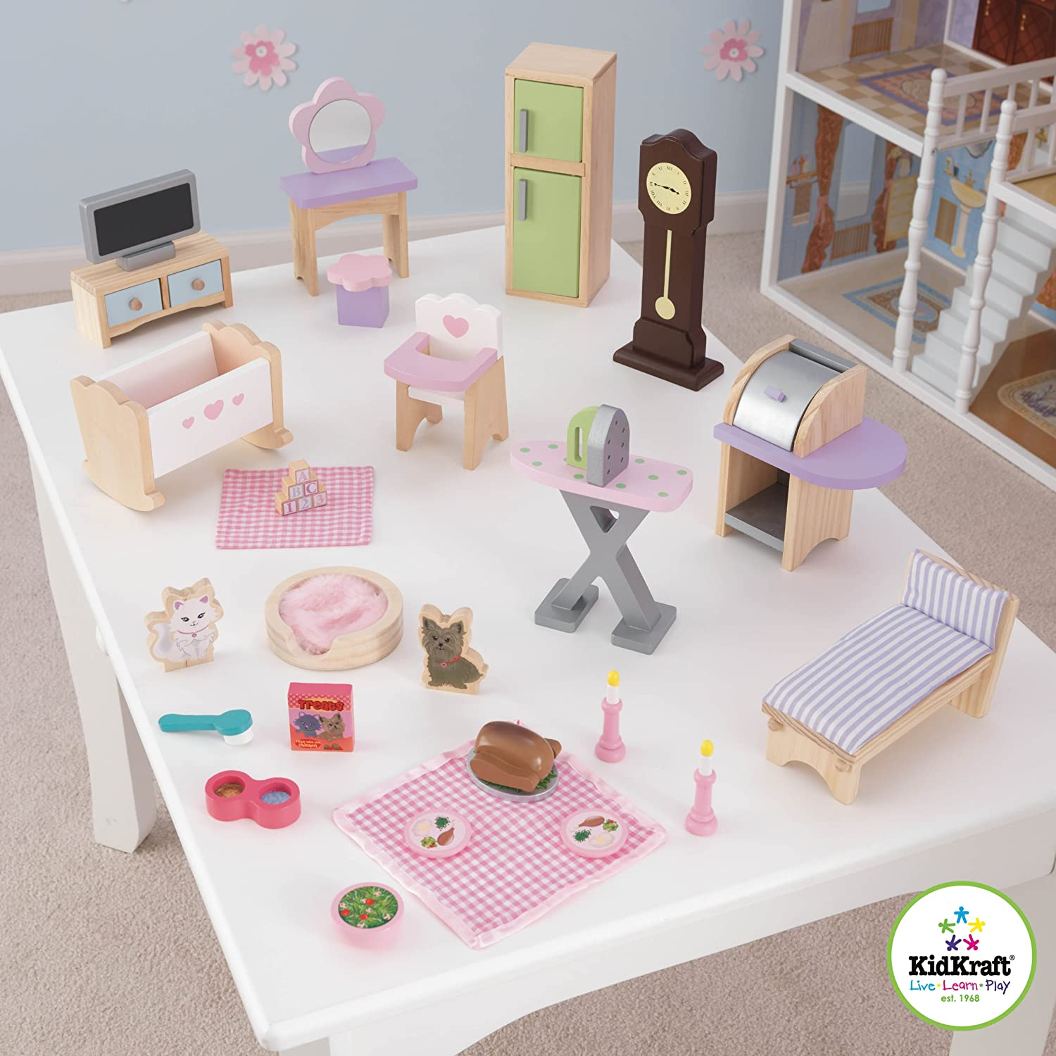 Captivating KidKraft Doll House Furniture Set (28 Pieces): KidKraft: Amazon.co.uk: Toys  U0026 Games