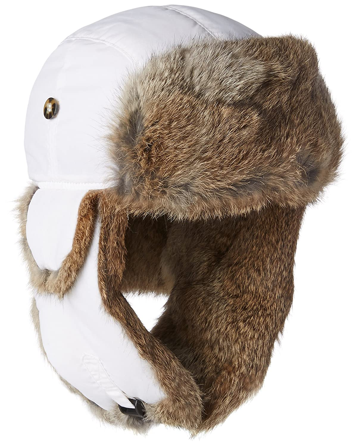 7af80b23f61 Amazon.com  Mad Bomber Chocolate Brown Supplex Pilot Aviator Hat Real  Rabbit Fur Trapper Hunting Cap  Sports   Outdoors