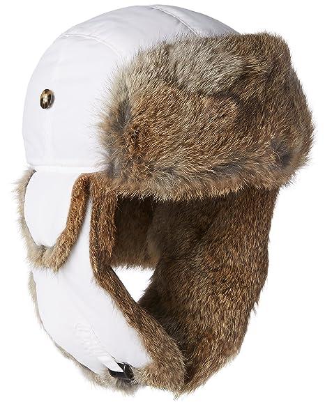 126d2e648 Mad Bomber Chocolate Brown Supplex Pilot Aviator Hat Real Rabbit Fur  Trapper Hunting Cap