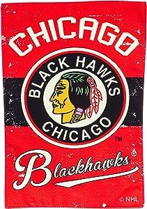 Chicago Blackhawks Vintage Garden Flag - 13 x 18 Inches