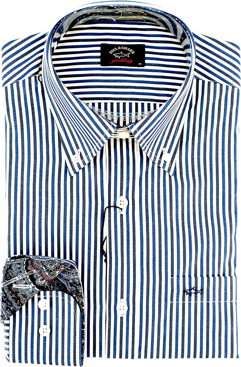PAUL & SHARK Casual, Cotton, Shirt multicolor 40: Amazon.es: Ropa y accesorios
