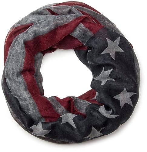 styleBREAKER fular de tubo diseño vintage bandera EE.UU., barras y estrellas, unisex 01016083