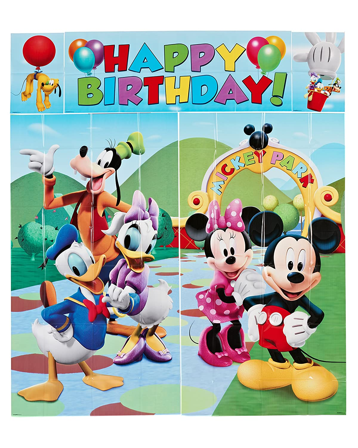 Amazon Com 5 Piece Set Mickey Scene Setter Multicolored Toys Mickey Mouse Wishing Happy Birthday