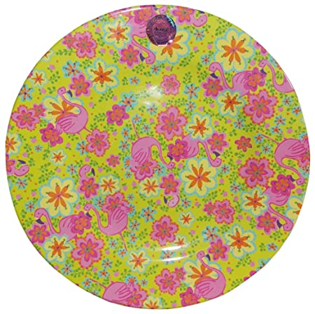 Rice Melamine Plates Flamingo 20u2013inch Green / pink  sc 1 st  Amazon UK & Rice Melamine Plates Flamingo 20-inch Green / pink: Amazon.co.uk ...