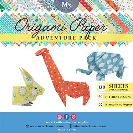Amazon Origami Paper Adventure Pack 120 Sheets Traditional