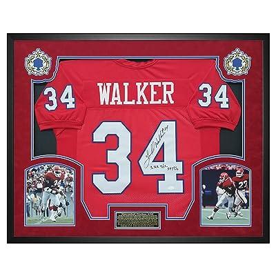 56567f338 Herschel Walker USFL New Jersey Generals Autographed   Signed Jersey -  Shadow Box Framed - JSA COA