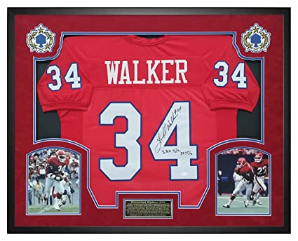 c5d9264a79f Herschel Walker USFL New Jersey Generals Autographed/Signed Jersey - Shadow  Box Framed - JSA COA at Amazon's Sports Collectibles Store