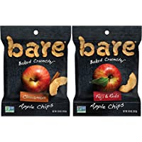 bare Baked Crunchy Apples Fruit Snack Pack, Gluten Free, Fuji & Reds and Cinnamon Flavors, 0.53oz (16 Count)